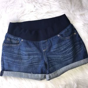 Great Expectations Maternity Jean Shorts Size M